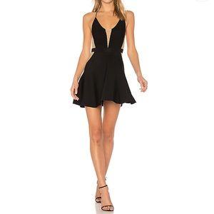 NBD Odette Dress A Line Black LBD Mini Revolve NWT